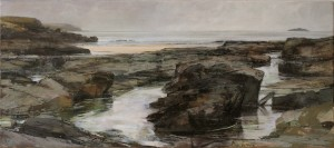 Panoramic Paintings Of Rocky Beach Sarah Adams Trevone