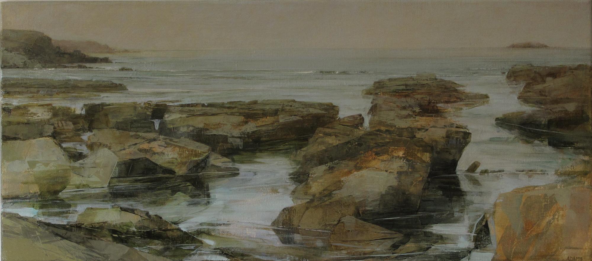 Panoramic Paintings Of Rocky Beach Sarah Adams Trevone