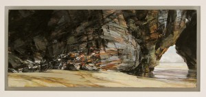 Sarah Adams, 'Diggory's Arch: spring tide study 2', oil on board, 18 x 43 cm