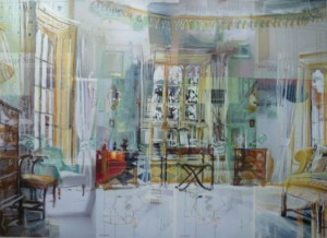 Alison Pullen, 'The Master Bedroom at Prideaux Place', collage