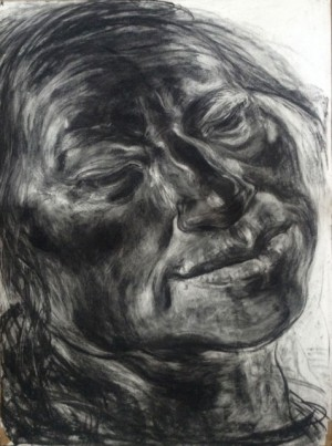Anita Taylor, 'Breeze', charcoal on paper, 120 x 89 cm