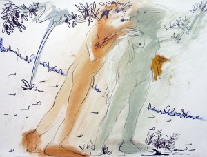 Paul Thomas, 'Apollo and Daphne V', pastel and pencil, 56 x 76 cm