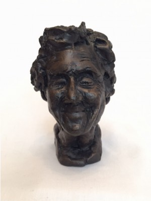 'Fien, 96 years old', bronze, 10 cm