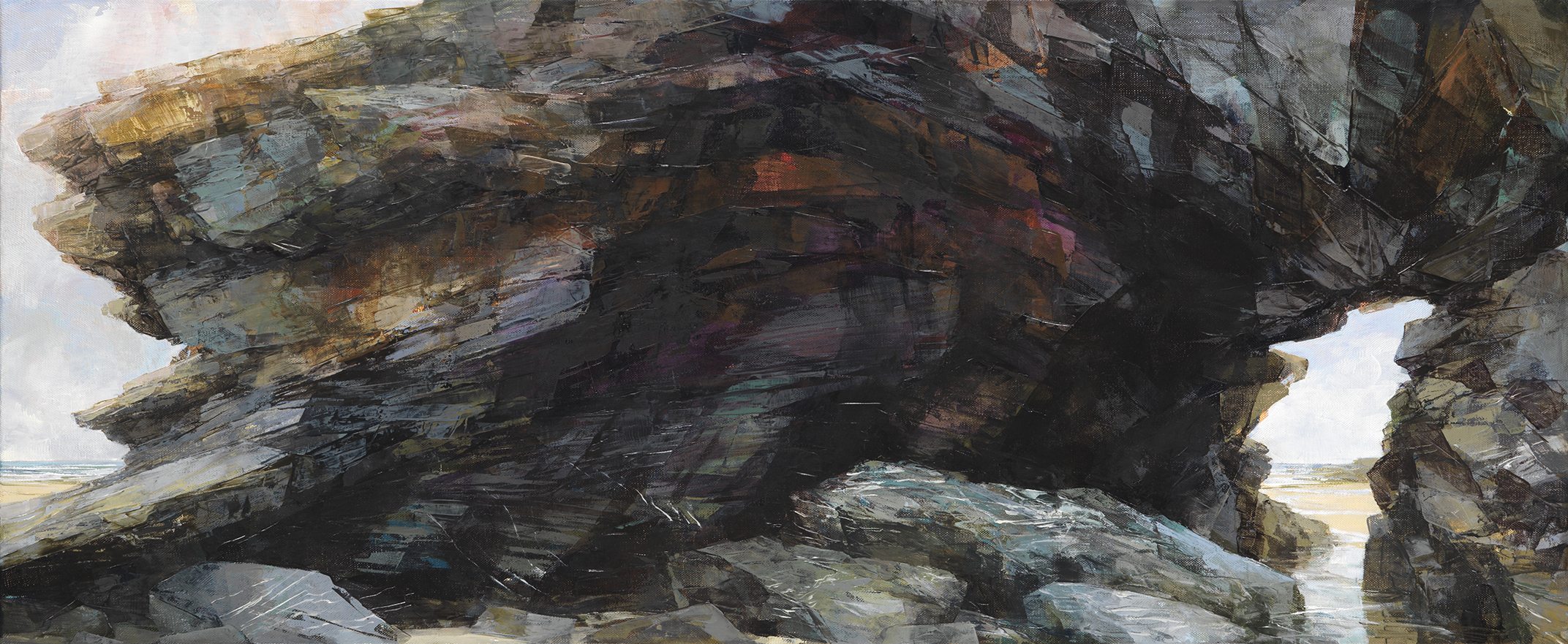 Sarah Adams, 'Betrothal Arch', oil on linen, 50 x 120 cm